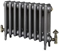 Eastgate Victoriana 3 Column 9 Section Cast Iron Radiator 450mm High x 576mm Wide - Metallic Finish